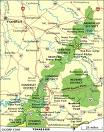 Map of the Daniel Boone National Forest