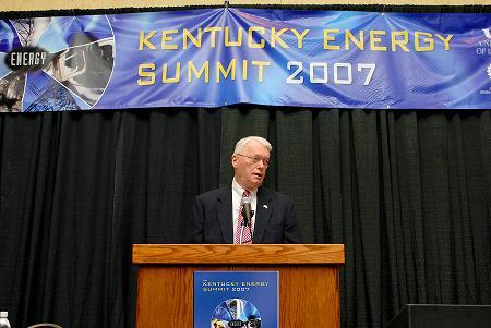 Senator Bunning speaking at Kentucky Energy Summitt in 2007
