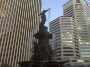 Cincinnati's Fountain Square suffers from air pollution according to American Lung Association's report.