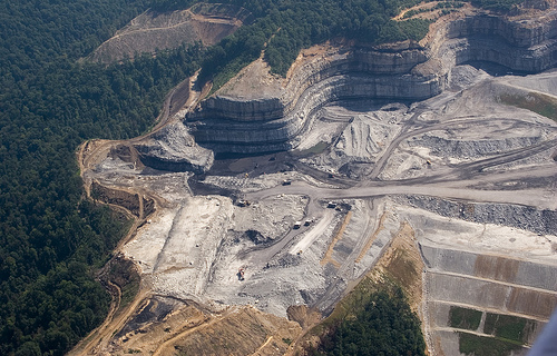 Example of mountaintop removal in Kentucky/West Virginia